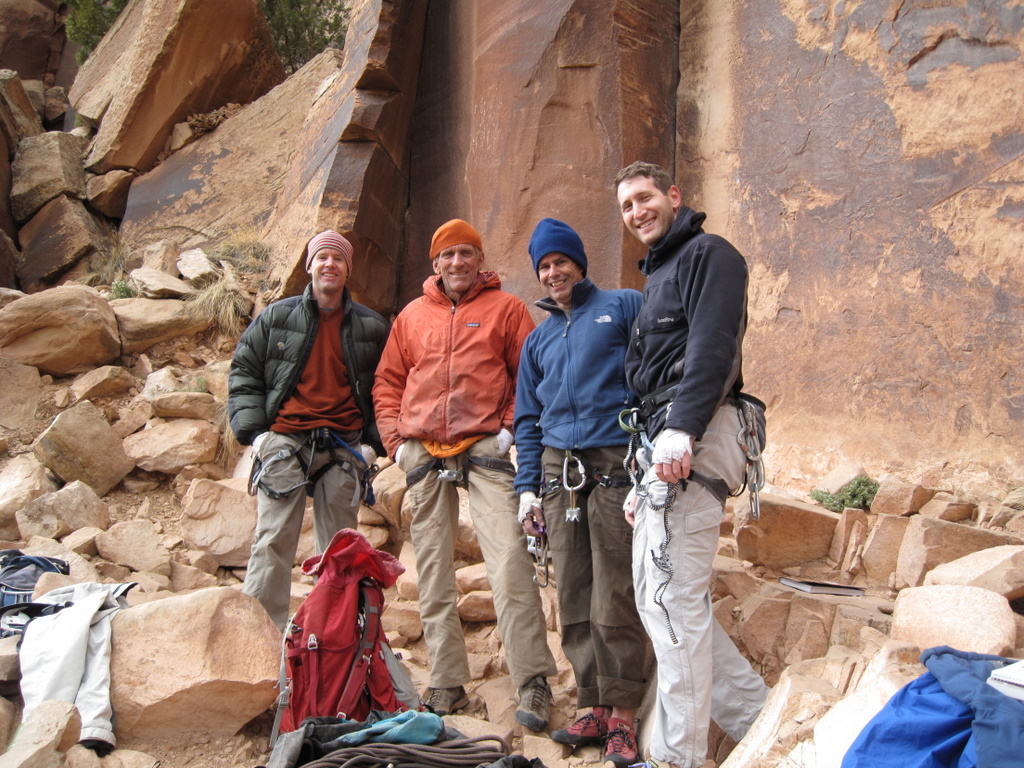We meet the famous Jim Donini.  L to R: Tad, Jim Donini, Matt R., Kevin B.