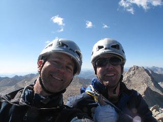 Tom & Tad on the summit of Bear Creek Spire